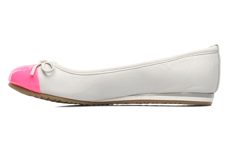 Ballerines I Love Shoes Sue Ellen Blanc vue face