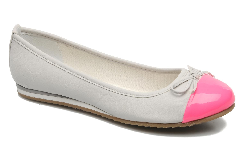 Ballerinaer I Love Shoes Sue Ellen Hvid detaljeret billede af skoene