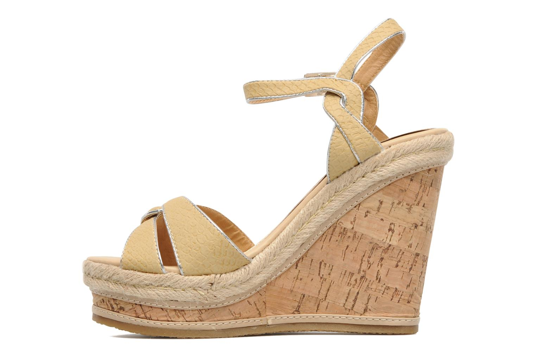 Sandales et nu-pieds Latinas Cloti Beige vue face