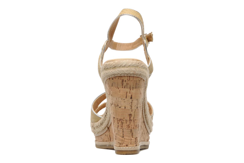 Sandalias Latinas Cloti Beige vista lateral derecha
