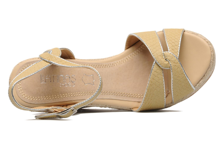 Sandalias Latinas Cloti Beige vista lateral izquierda