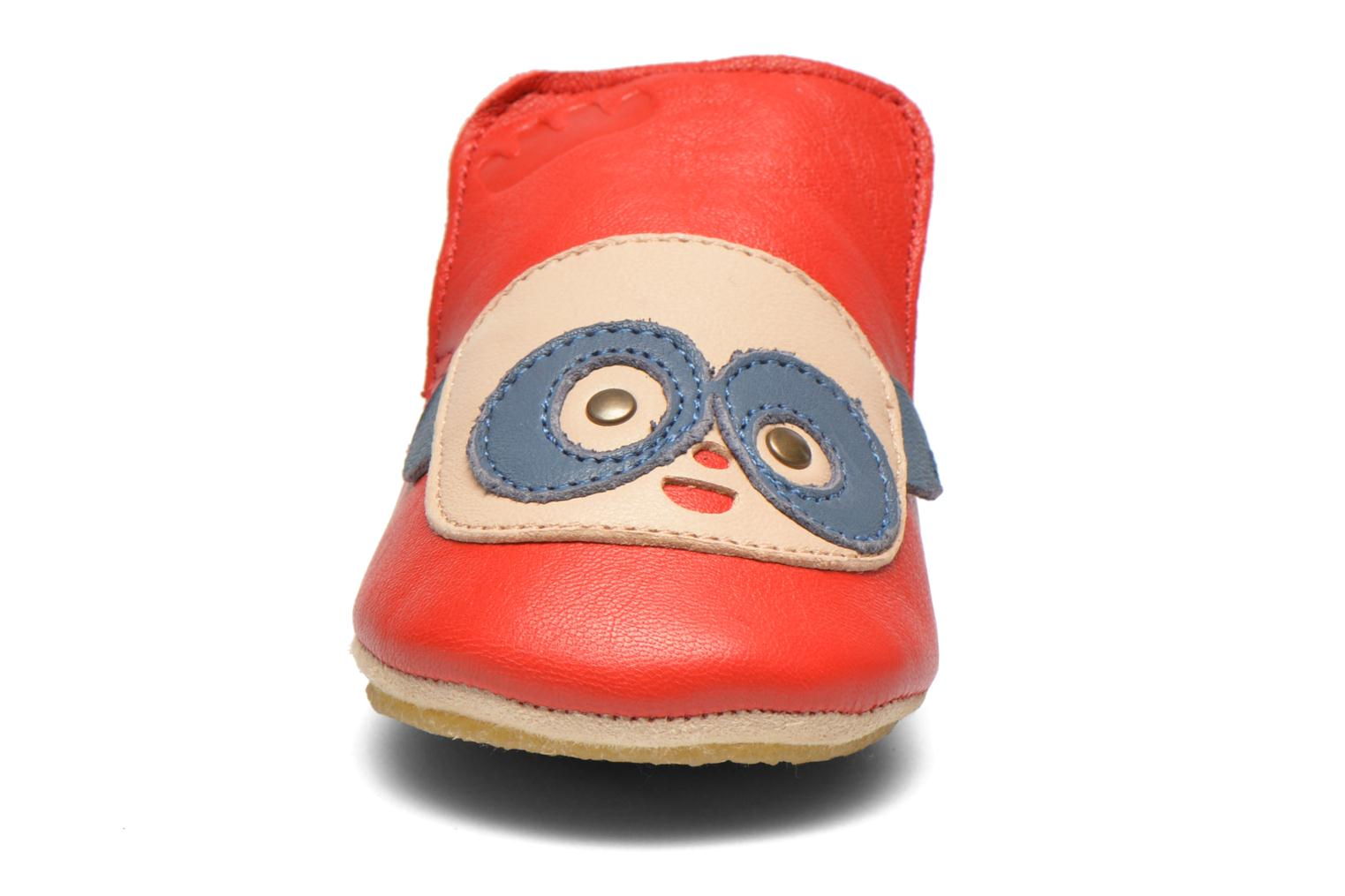 Chaussons Easy Peasy Blublu Patin Panda Rouge vue portées chaussures