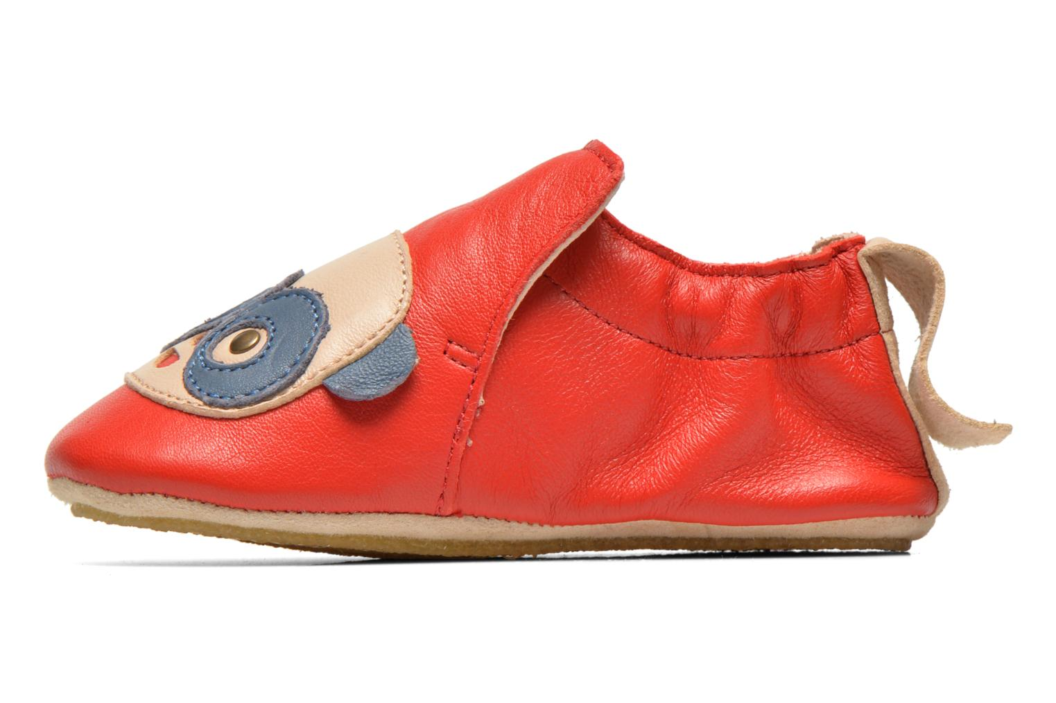 Chaussons Easy Peasy Blublu Patin Panda Rouge vue face