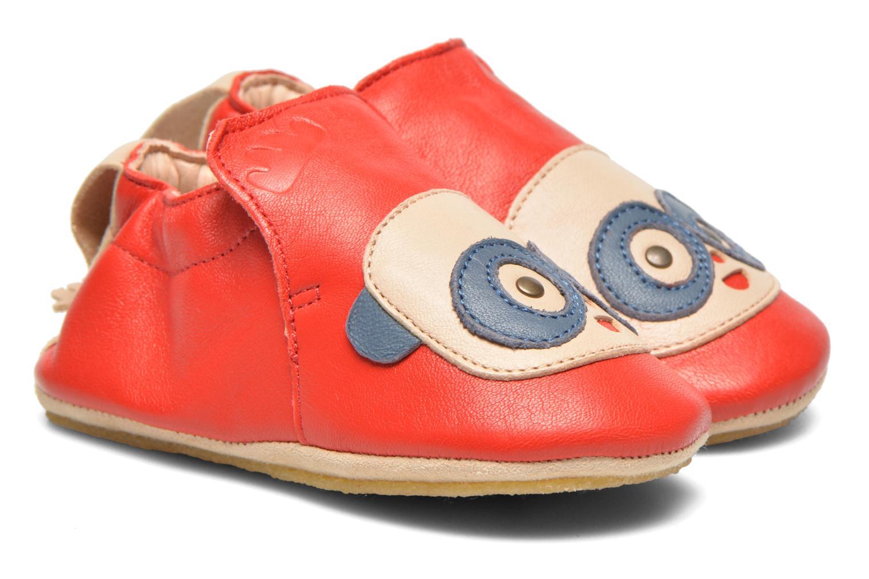 Hjemmesko Easy Peasy Blublu Patin Panda Rød detaljeret billede af skoene