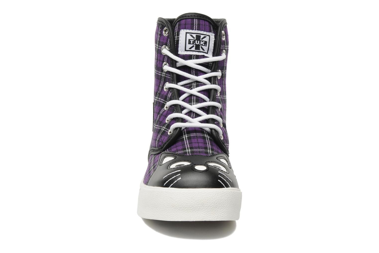 Baskets T.U.K. HI KITTY PURPLE Violet vue portées chaussures