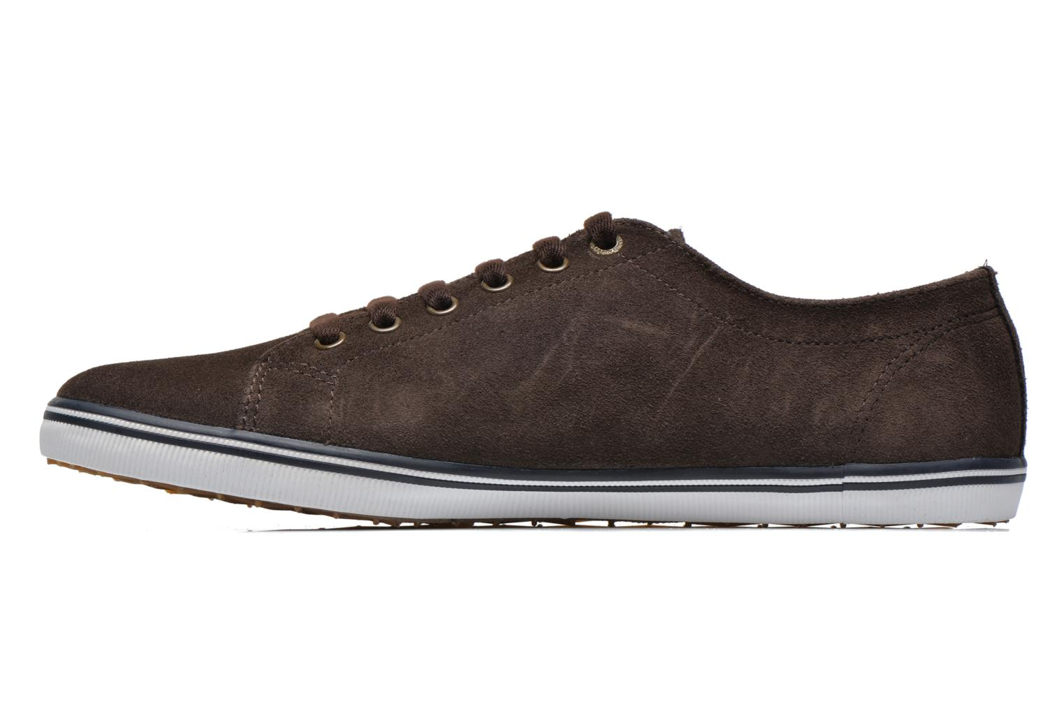 Baskets Fred Perry KingstoneSuede Marron vue face