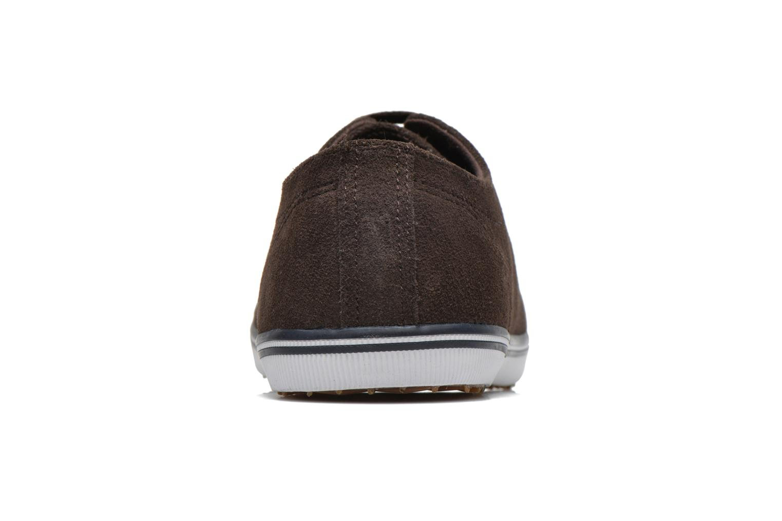 Baskets Fred Perry KingstoneSuede Marron vue droite