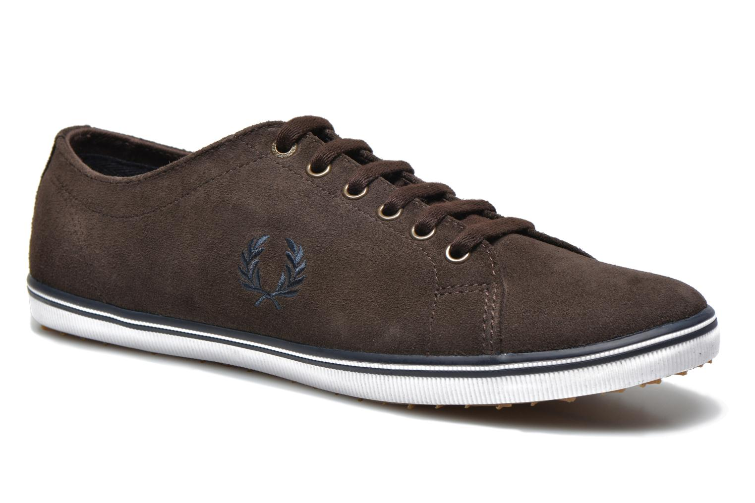 Baskets Fred Perry KingstoneSuede Marron vue détail/paire