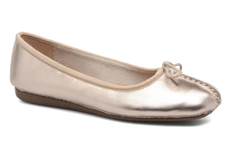 Bailarinas Clarks Unstructured Freckle Ice Oro y bronce vista de detalle / par