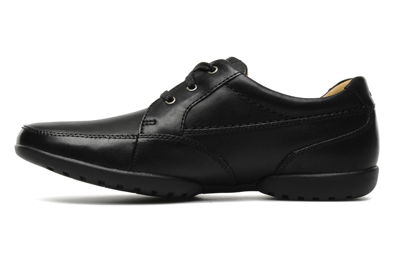 Chaussures à lacets Clarks Recline Out Noir vue face