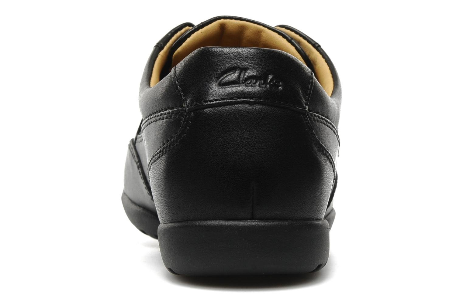 Lace-up shoes Clarks Recline Out Black view from the right