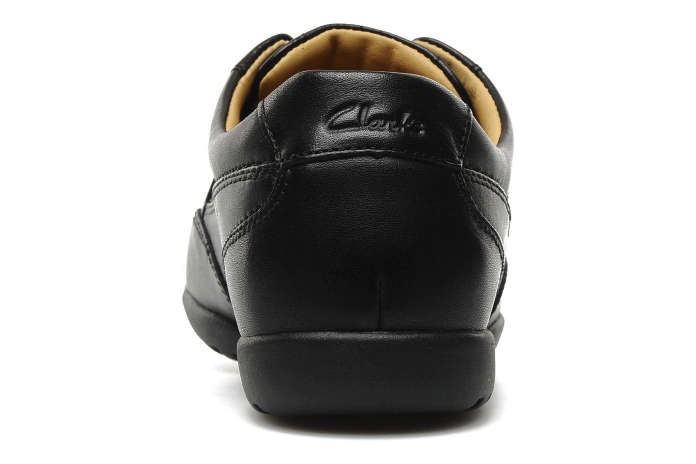 Chaussures à lacets Clarks Recline Out Noir vue droite