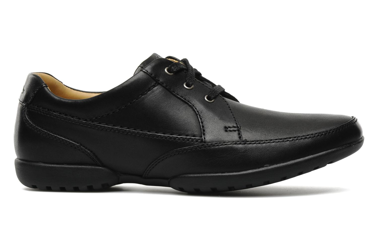 Lace-up shoes Clarks Recline Out Black back view
