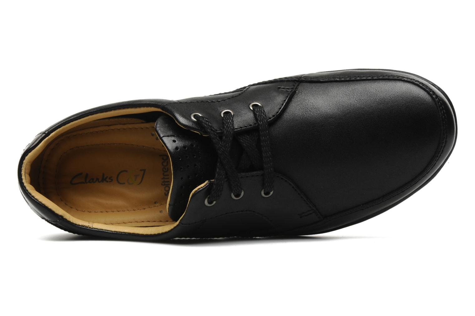 Lace-up shoes Clarks Recline Out Black view from the left