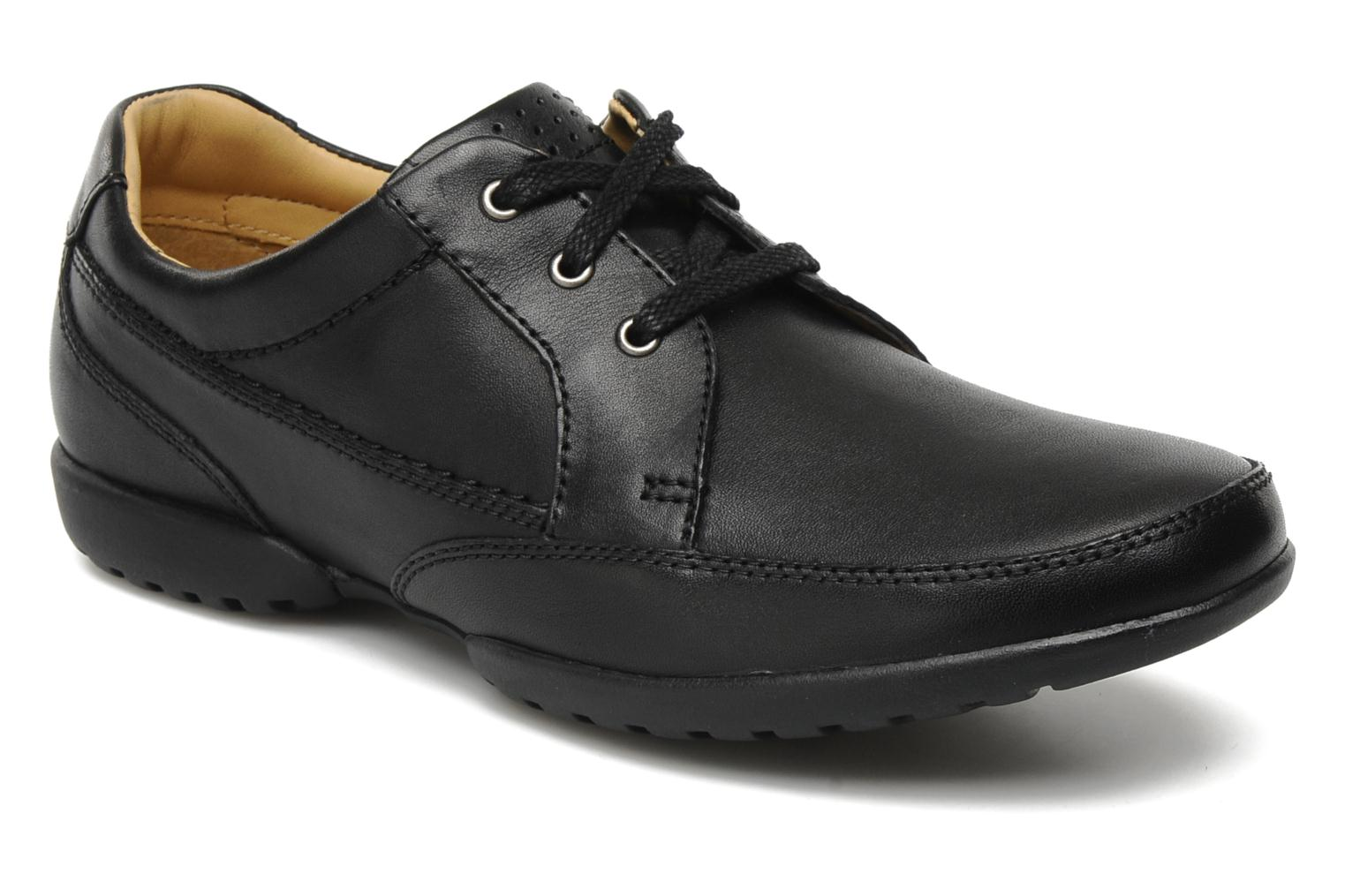 Lace-up shoes Clarks Recline Out Black detailed view/ Pair view