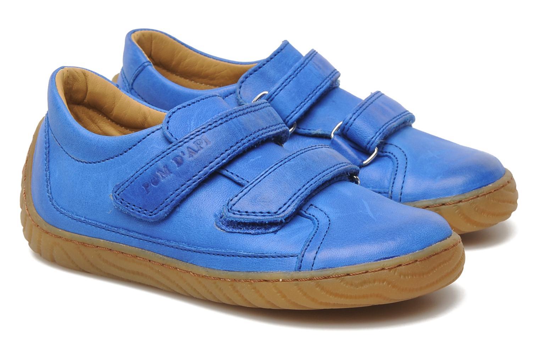 Trainers Pom d Api Woody Bi Velcro Blue 3/4 view