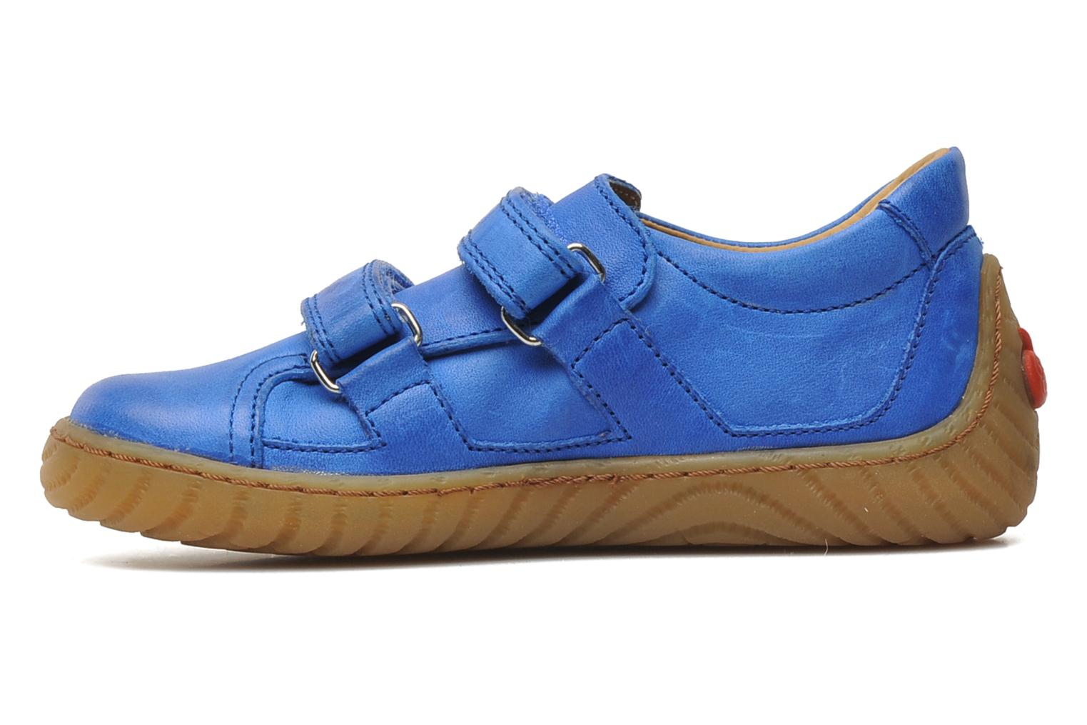 Trainers Pom d Api Woody Bi Velcro Blue front view