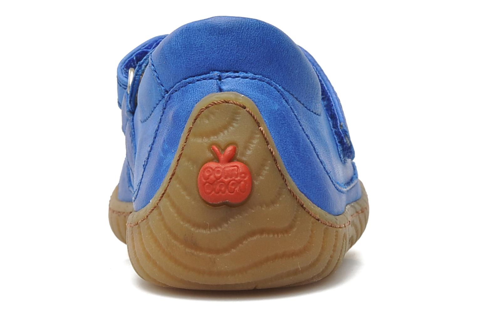 Trainers Pom d Api Woody Bi Velcro Blue view from the right