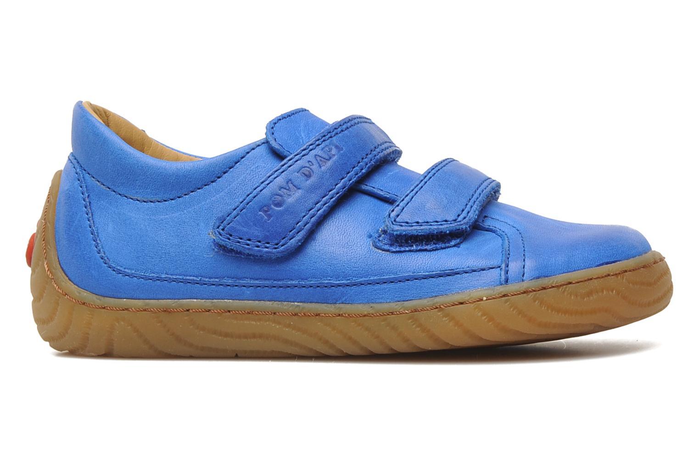 Trainers Pom d Api Woody Bi Velcro Blue back view