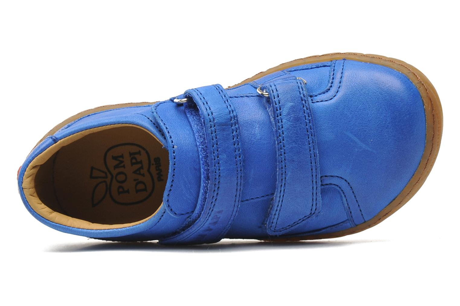 Trainers Pom d Api Woody Bi Velcro Blue view from the left