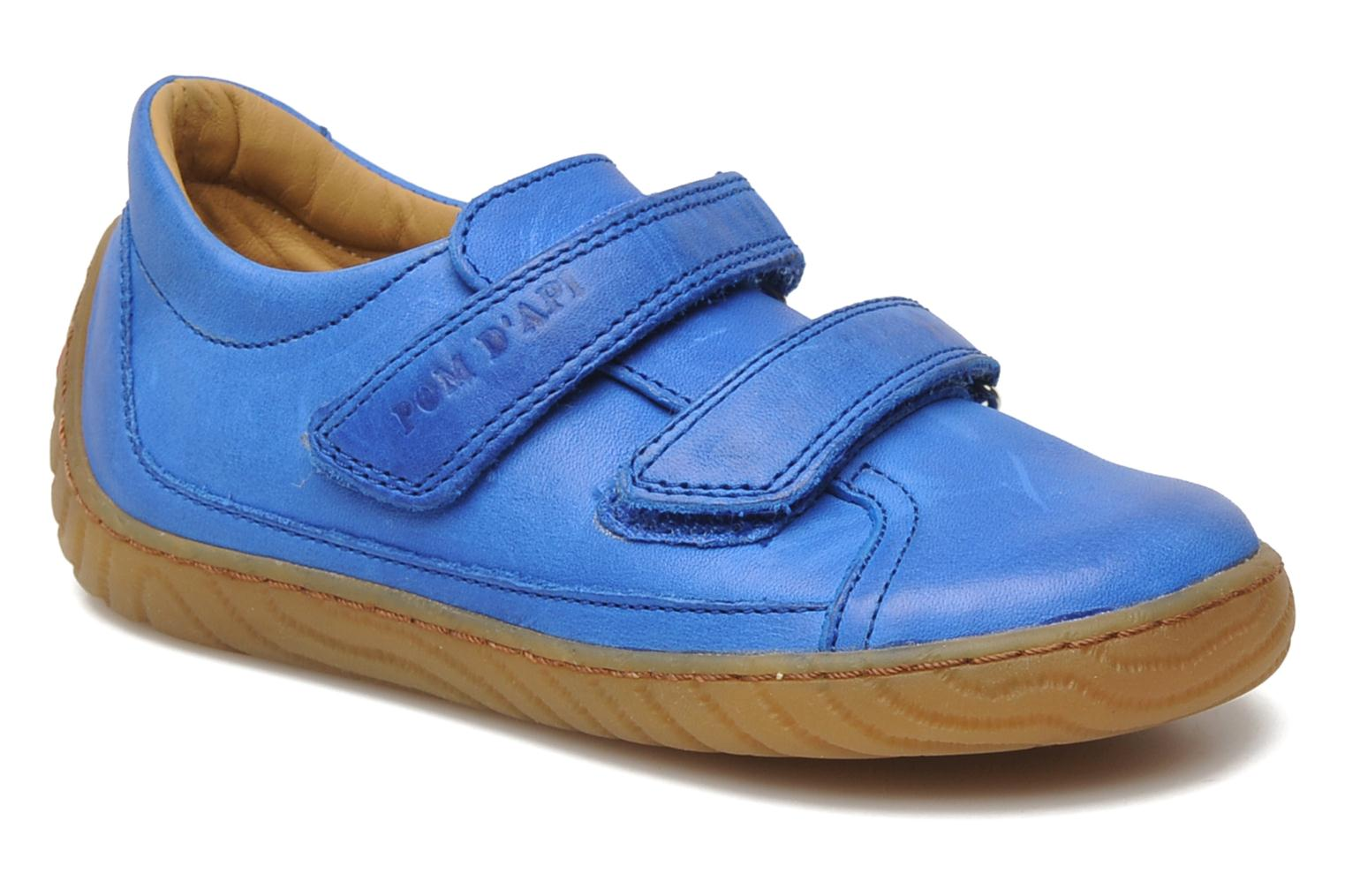 Trainers Pom d Api Woody Bi Velcro Blue detailed view/ Pair view
