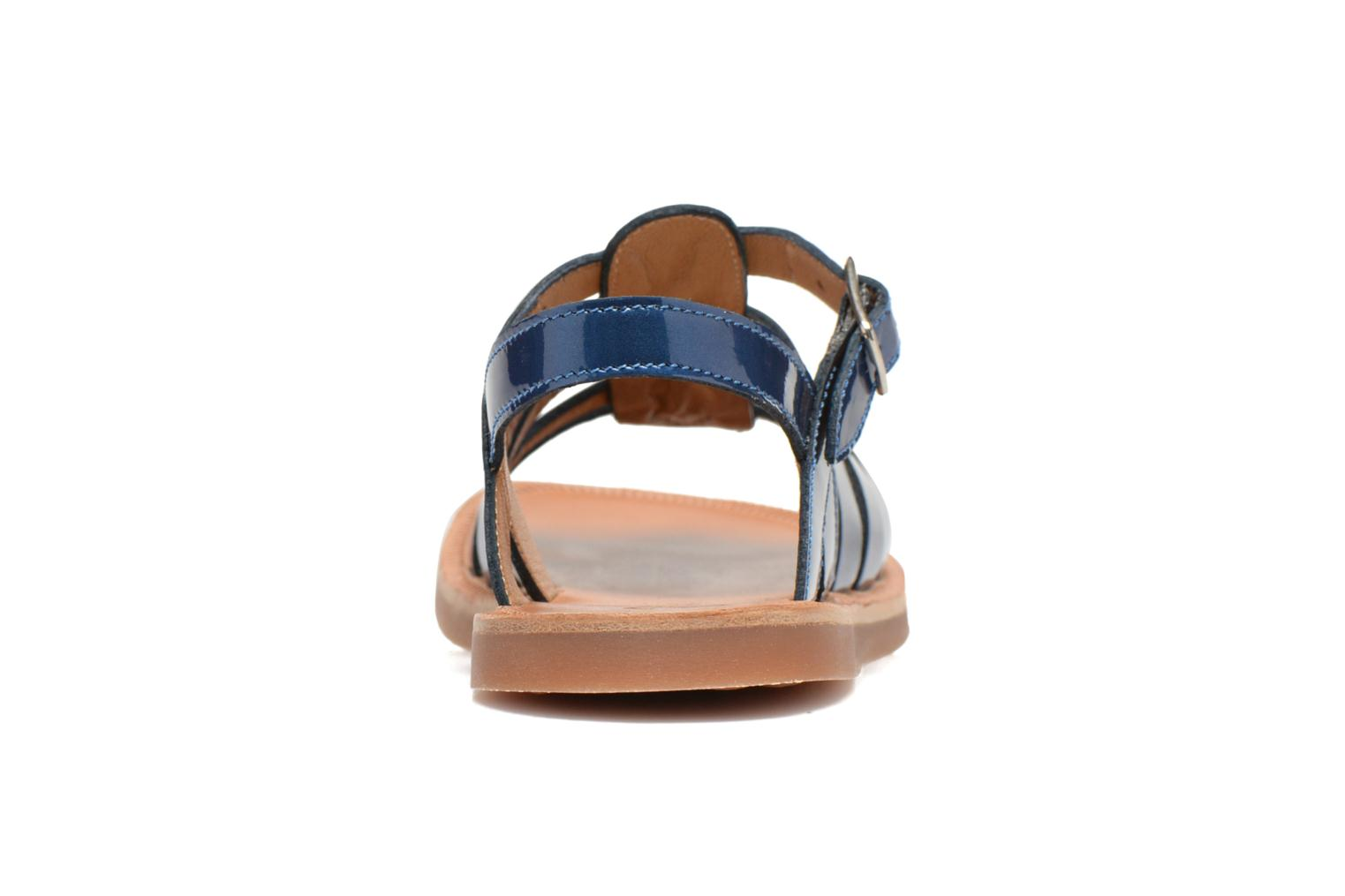 Sandals Pom d Api Plagette Strap Blue view from the right