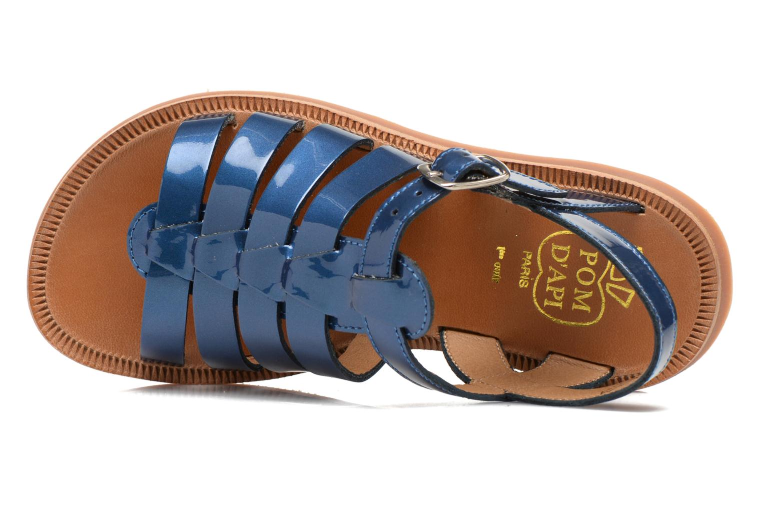 Sandals Pom d Api Plagette Strap Blue view from the left