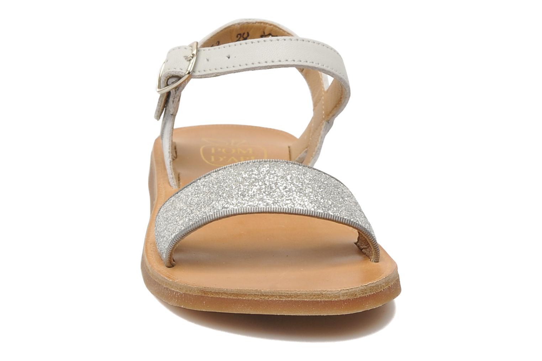 Sandalen Pom d Api Plagette Buckle Tao silber schuhe getragen