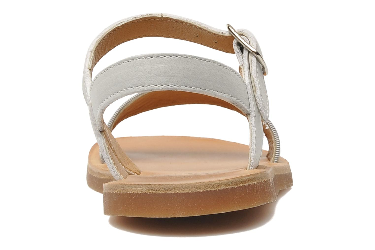Sandals Pom d Api Plagette Buckle Tao Silver view from the right