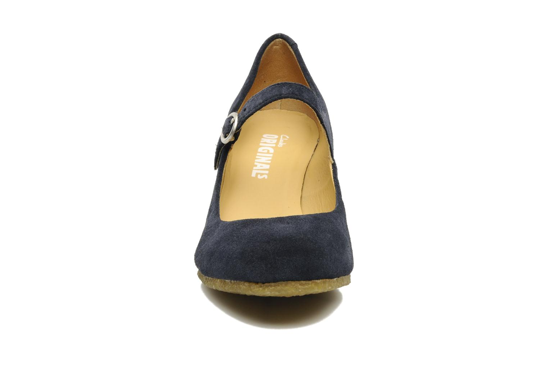 High heels Clarks Originals Cary Jane Blue model view