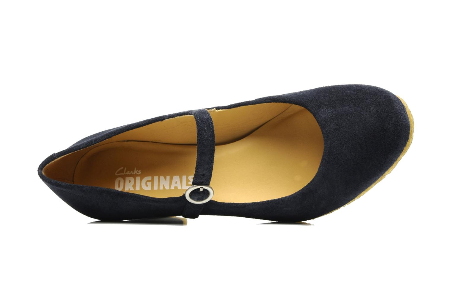High heels Clarks Originals Cary Jane Blue view from the left
