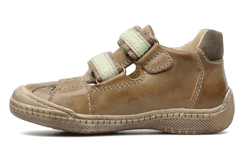 Chaussures à scratch Primigi Osbert-E Marron vue face