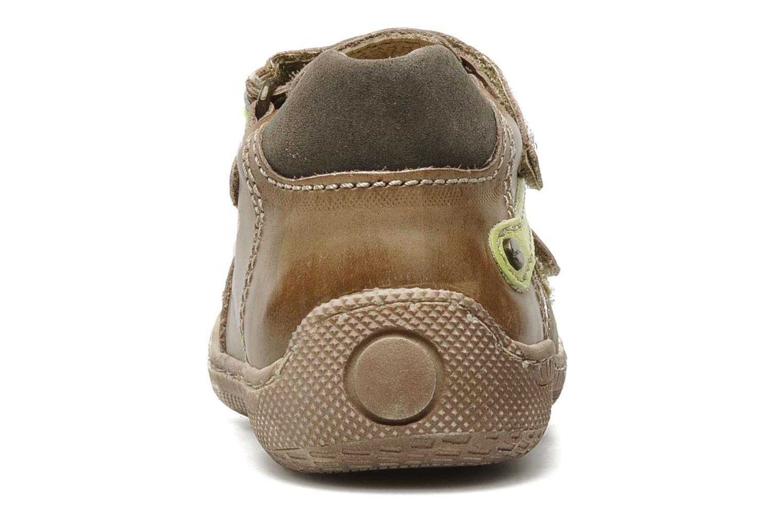 Chaussures à scratch Primigi Osbert-E Marron vue droite