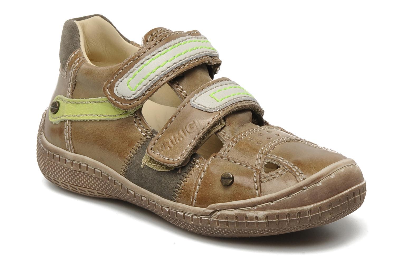 Chaussures à scratch Primigi Osbert-E Marron vue détail/paire