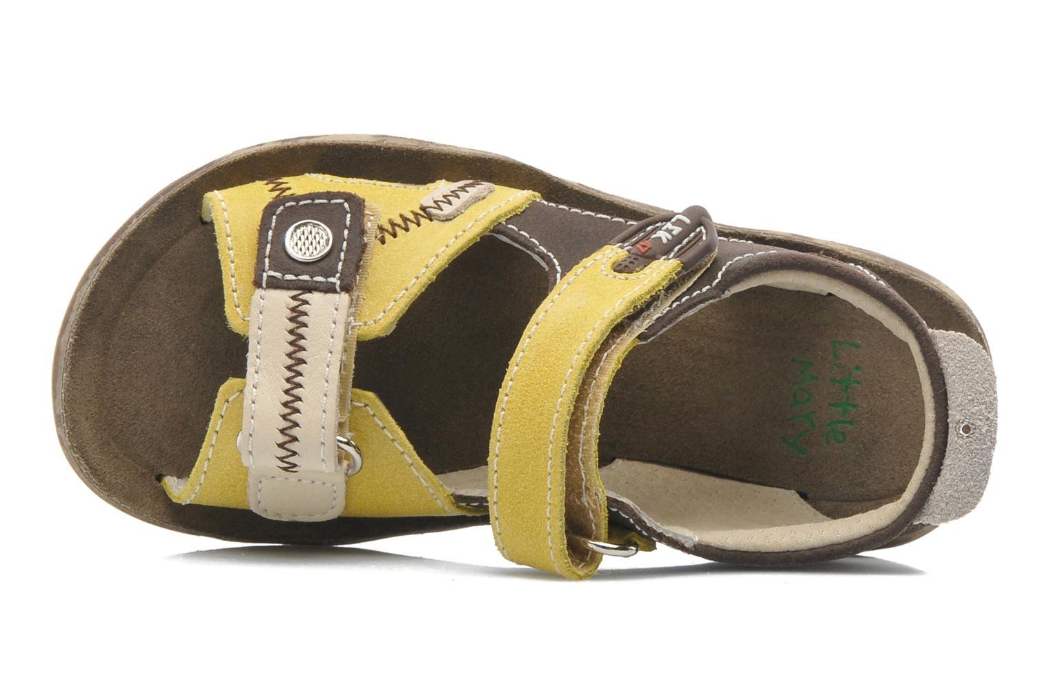 Sandales et nu-pieds Little Mary Moca Marron vue gauche