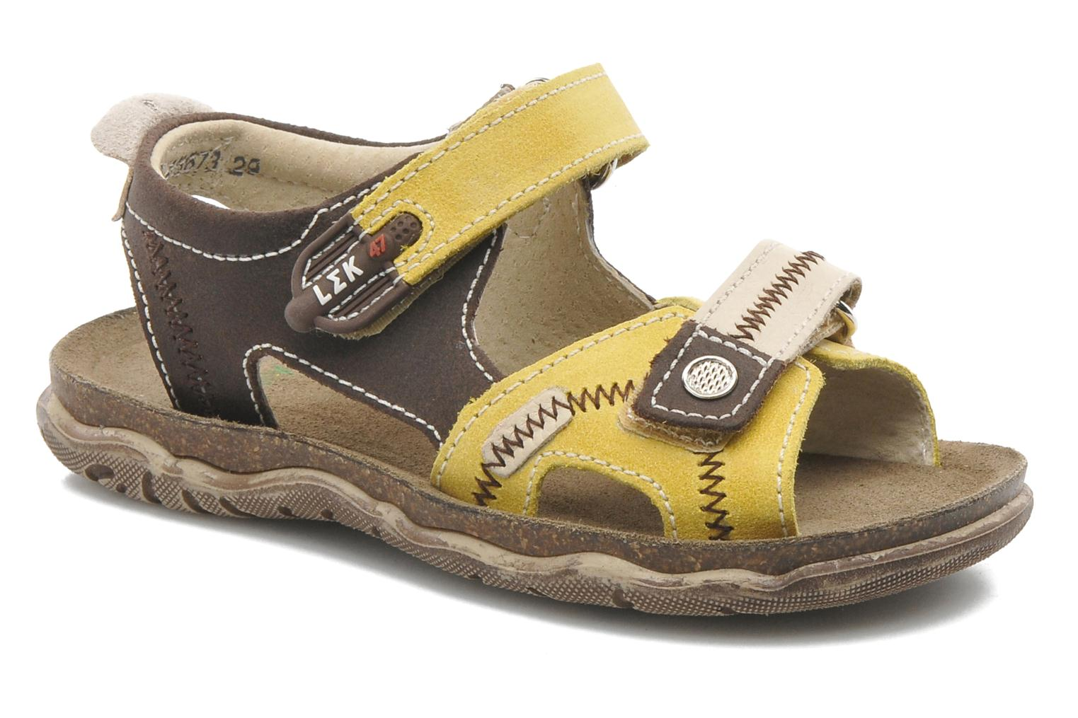 Sandals Little Mary Moca Brown detailed view/ Pair view