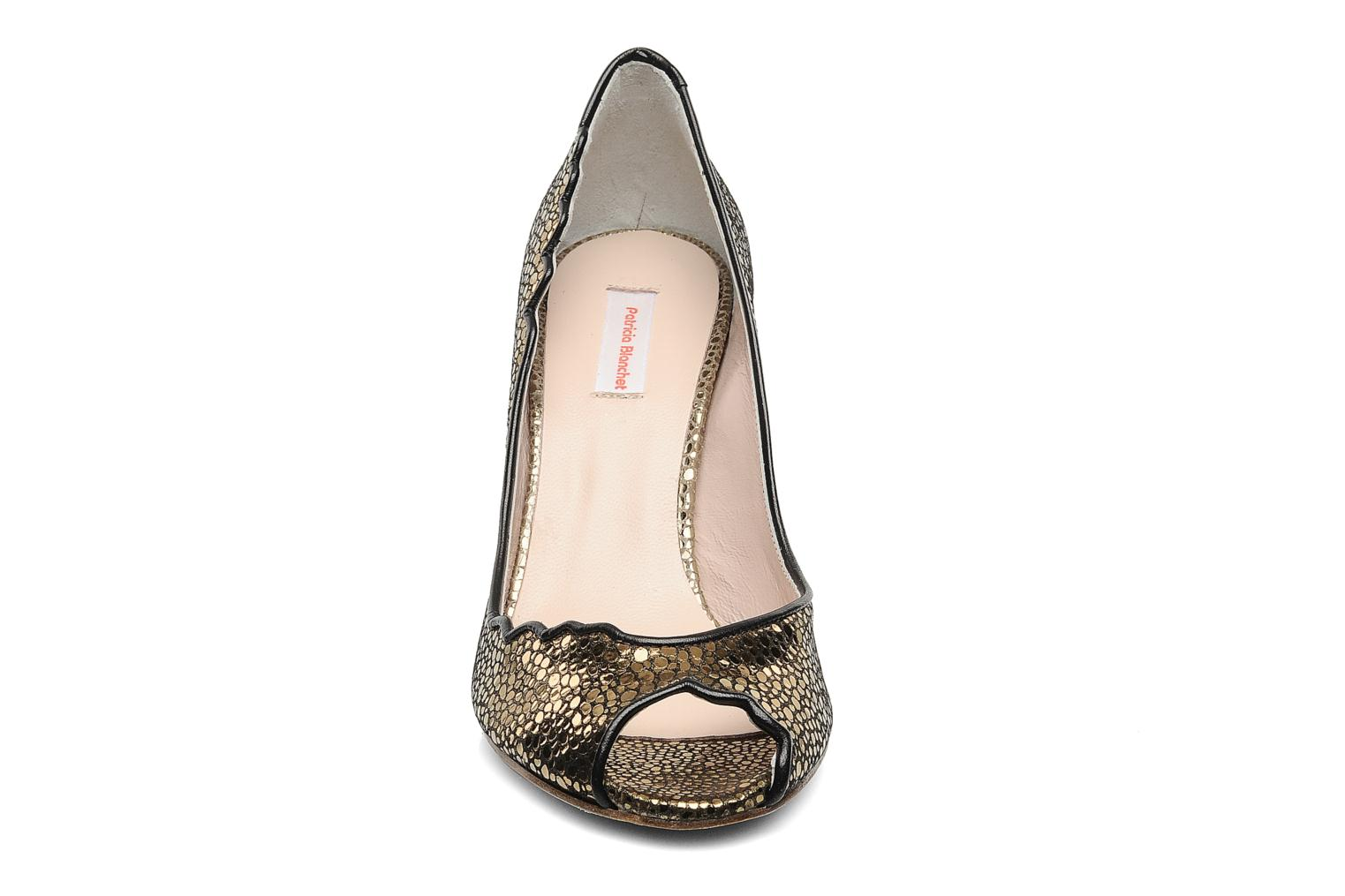 High heels Patricia Blanchet Katar Bronze and Gold model view