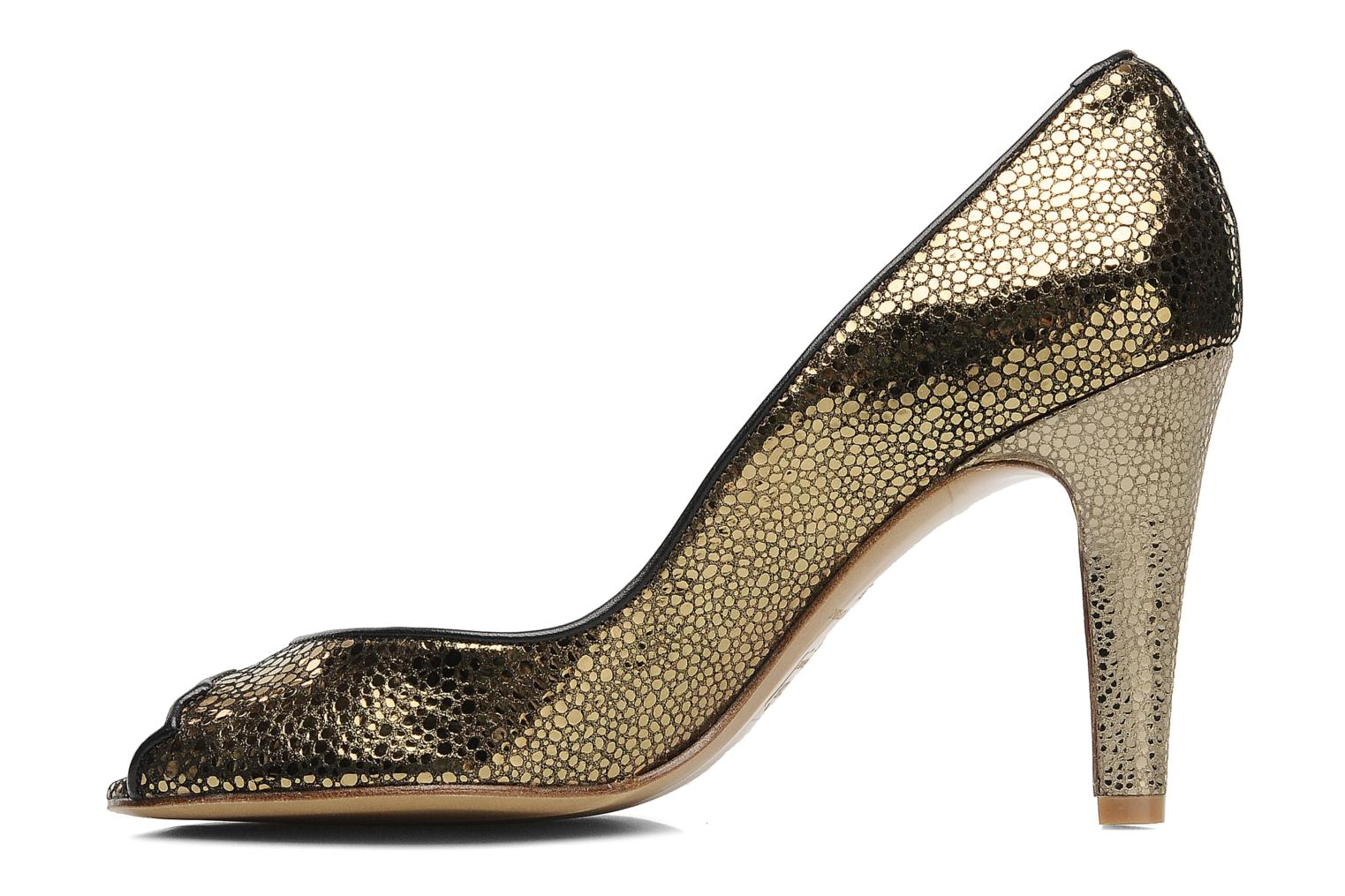High heels Patricia Blanchet Katar Bronze and Gold front view