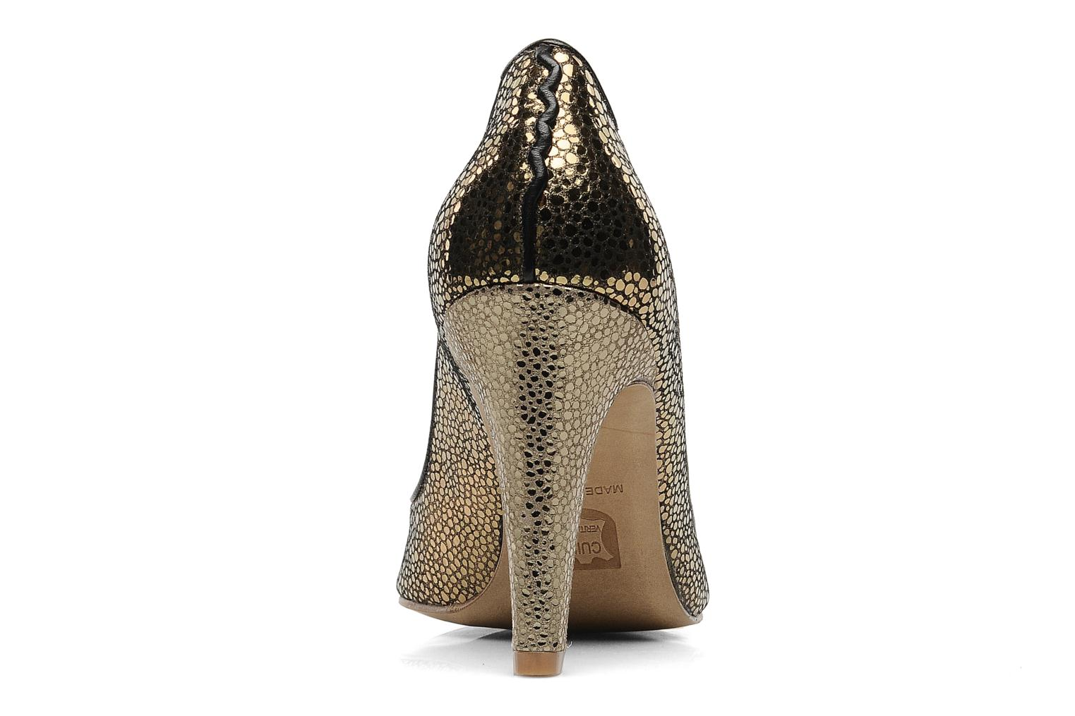 High heels Patricia Blanchet Katar Bronze and Gold view from the right