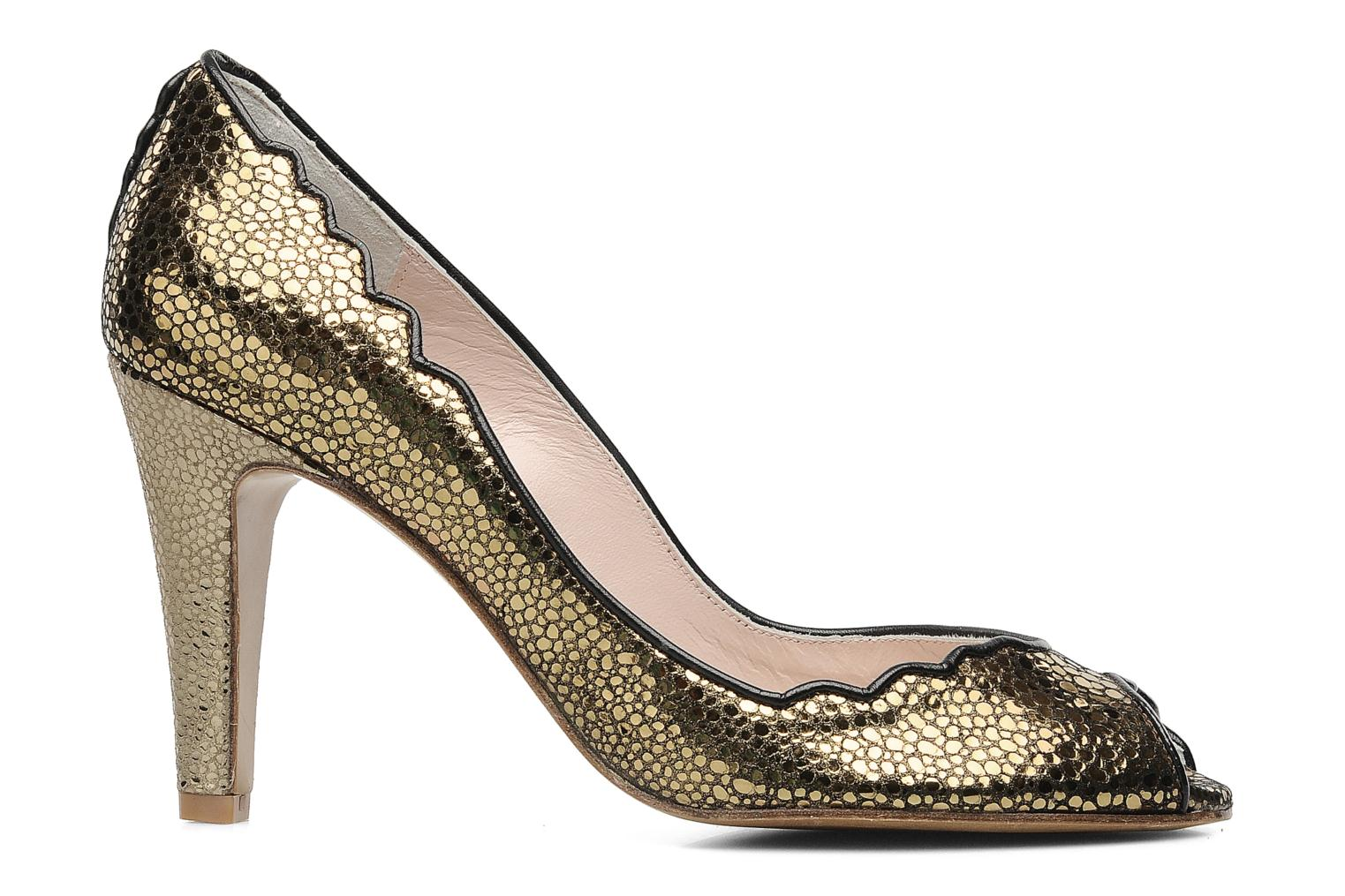 High heels Patricia Blanchet Katar Bronze and Gold back view