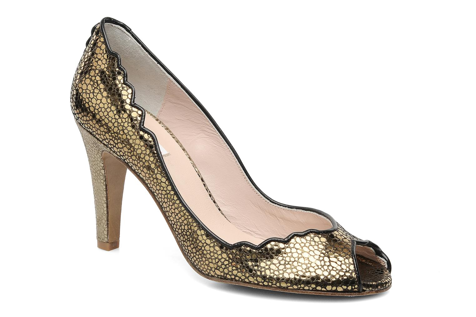High heels Patricia Blanchet Katar Bronze and Gold detailed view/ Pair view