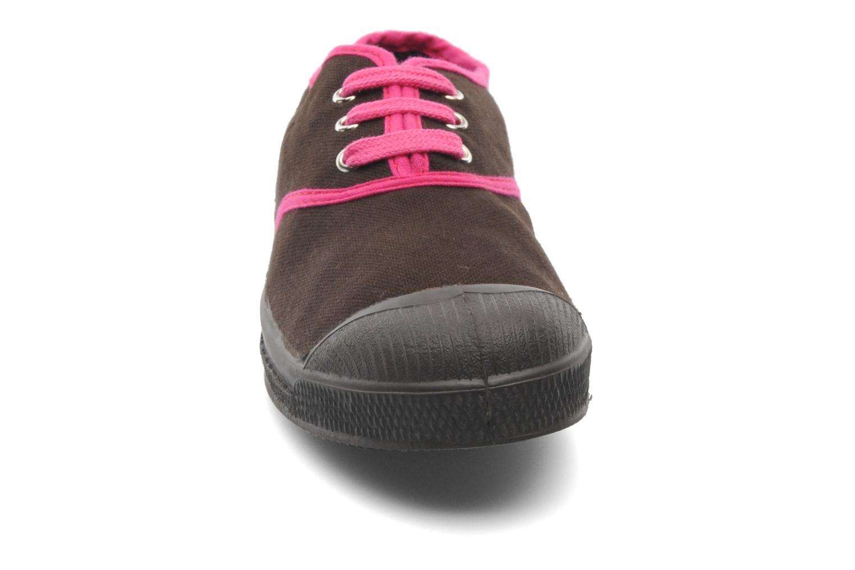 Baskets Bensimon Tennis Colorpiping E Marron vue portées chaussures