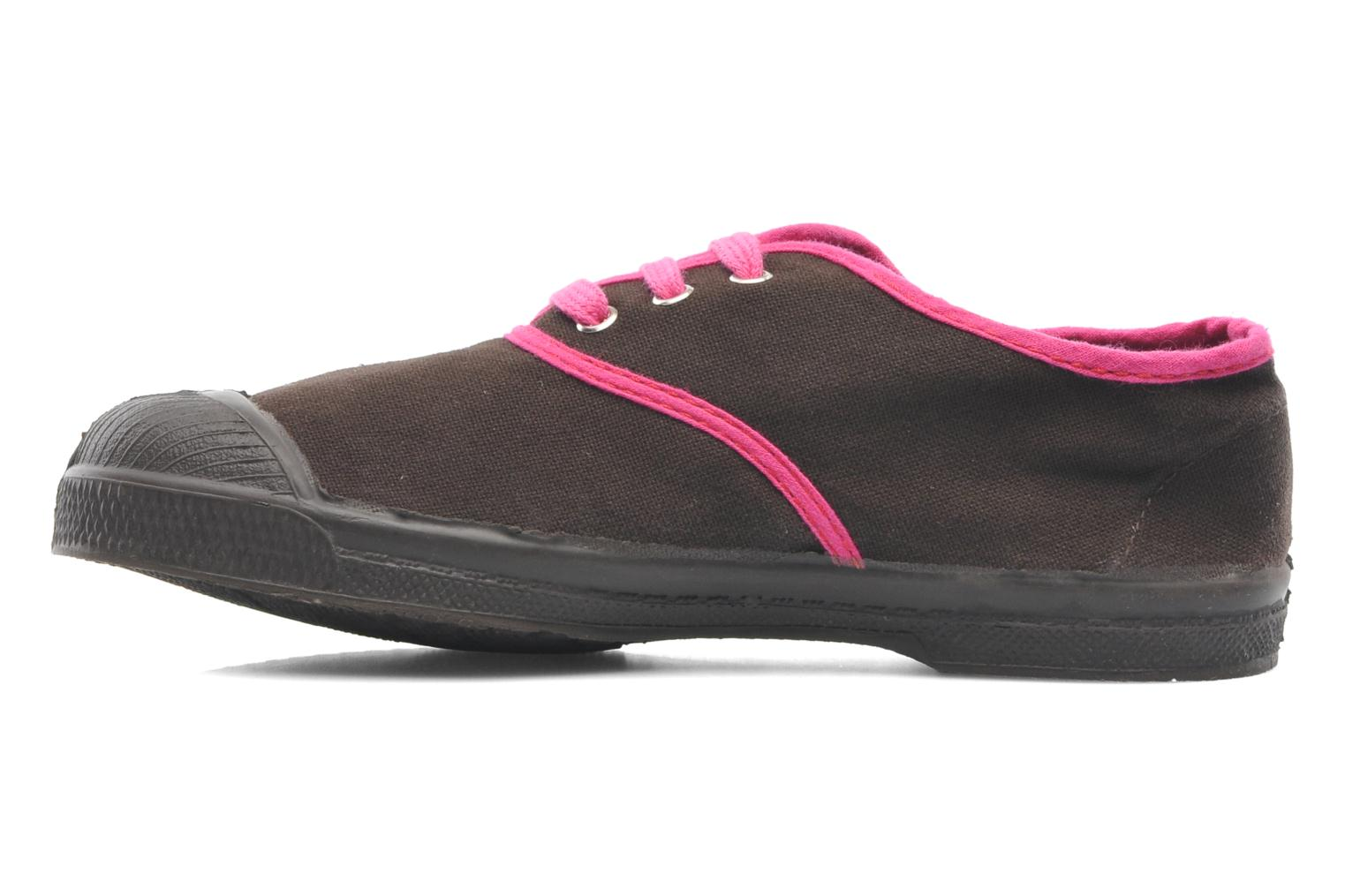 Trainers Bensimon Tennis Colorpiping E Brown front view