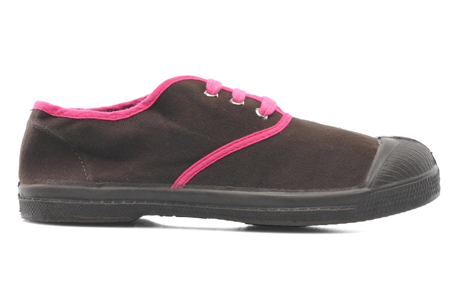 Trainers Bensimon Tennis Colorpiping E Brown back view