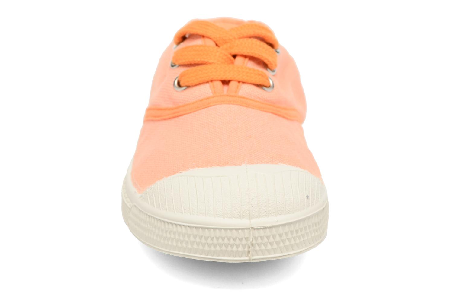 Baskets Bensimon Tennis Colorpiping E Orange vue portées chaussures