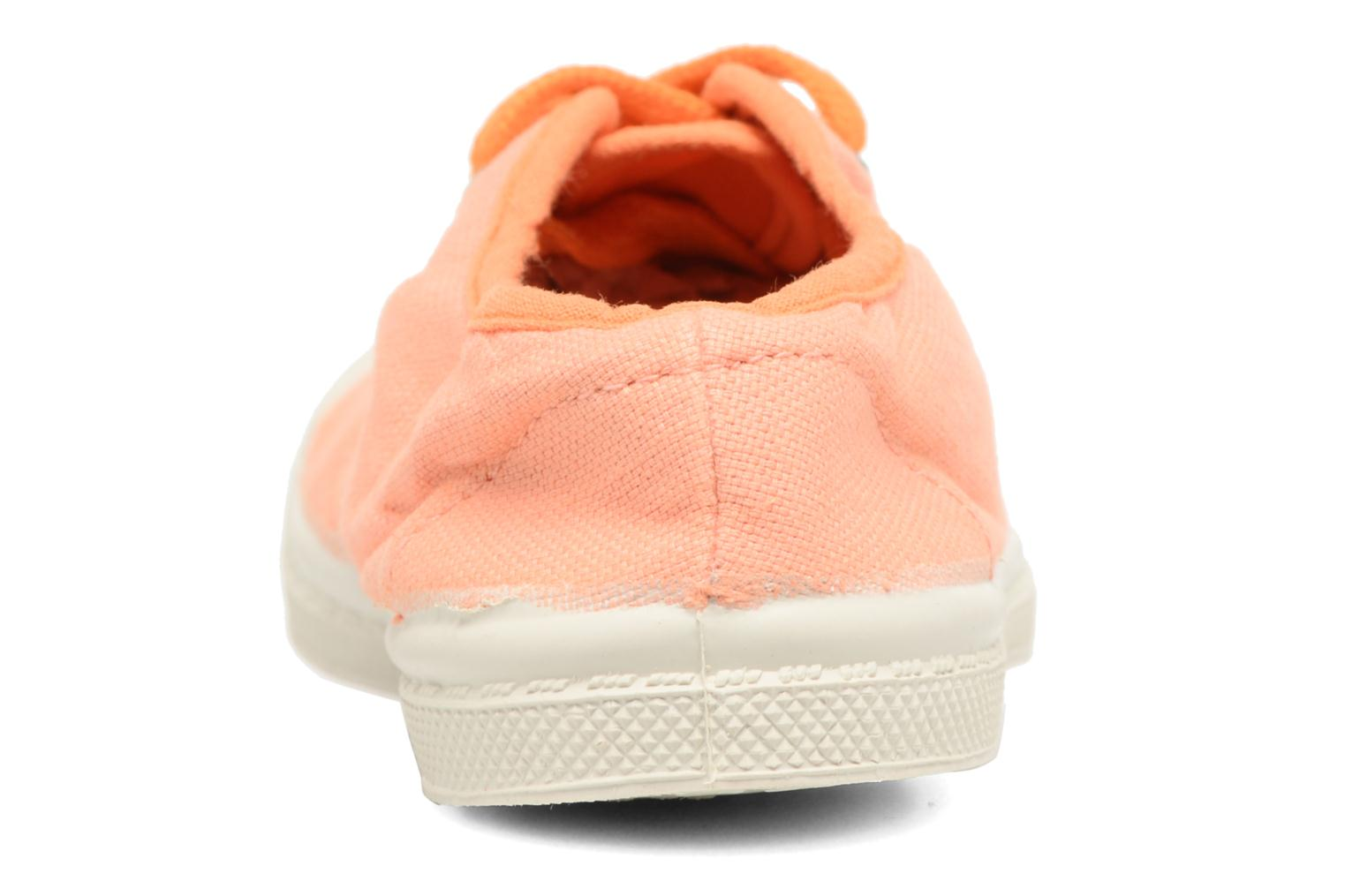 Trainers Bensimon Tennis Colorpiping E Orange view from the right