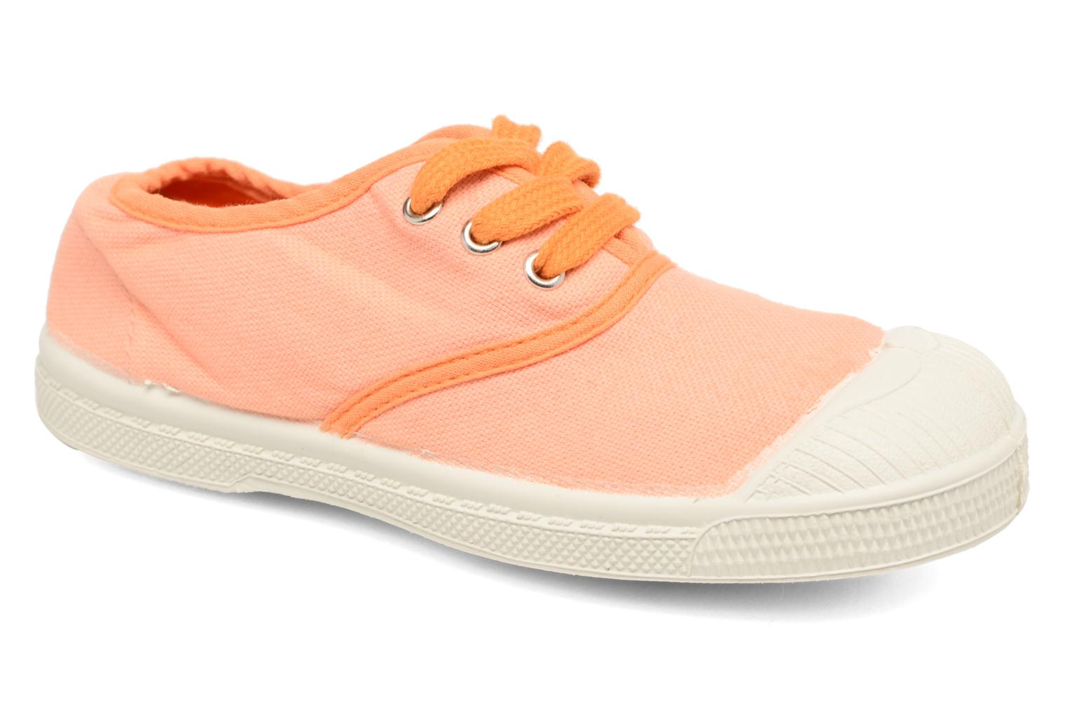 Baskets Bensimon Tennis Colorpiping E Orange vue détail/paire