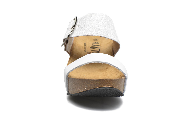 Mules et sabots Plakton So Rock Blanc vue portées chaussures