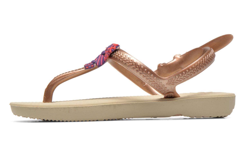 Sandales et nu-pieds Havaianas Kids Freedom Or et bronze vue face