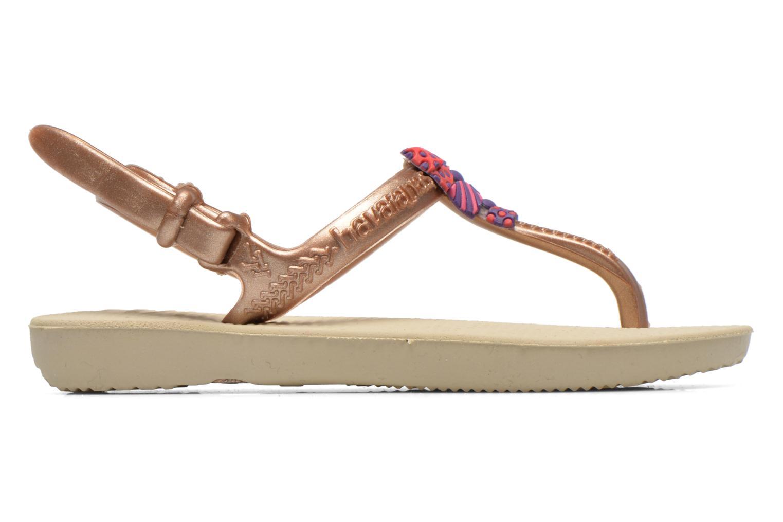 Sandales et nu-pieds Havaianas Kids Freedom Or et bronze vue derrière